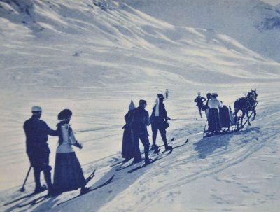 Skijöring um 1900 ©Sammlung Franz Karl und Thomas Eggler, Bludenz