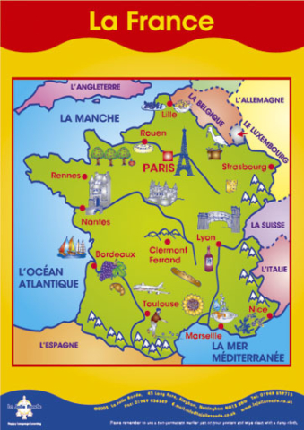 Map Of France Large