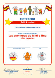 Las Aventuras Part 1 (juguetes) - Certificate
