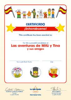 Las Aventuras Part 2 (amigos) Certificate
