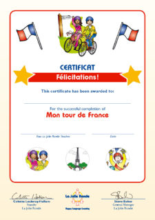 Mon Tour Certificate