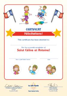 Salut Céline (original) Certificate