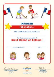 Salut Céline Certificate