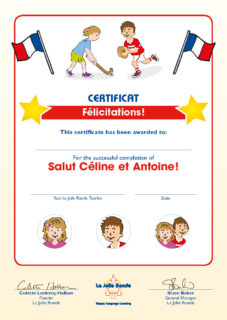 Salut Céline et Antoine - Certificate