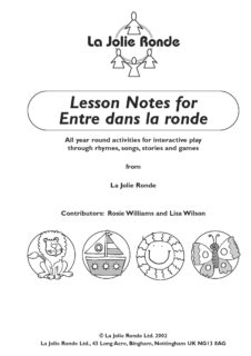 Entre dans la ronde extra lesson notes