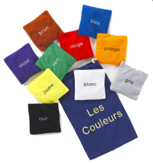 French Les Couleurs colour bean bags