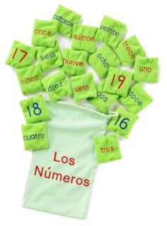 Spanish Los Números Number Bean Bags