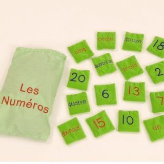 French Les Numéros Number Bean Bags
