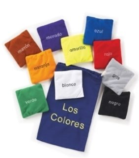 Spanish Los Colores colour bean bags