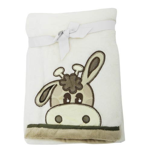baby fleecedecke mit giraffen motiv kuscheldecke kinderwagen decke ebay. Black Bedroom Furniture Sets. Home Design Ideas