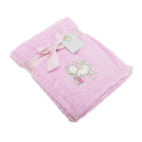 baby fleece decke mit elefanten motiv kuscheldecke kinderwagen decke ebay. Black Bedroom Furniture Sets. Home Design Ideas