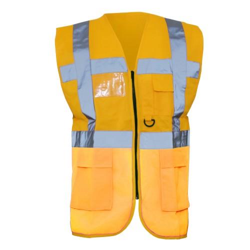 Yoko Hi-Vis Premium Executive/Manager Waistcoat / Jacket (L) (Paramedic Green)
