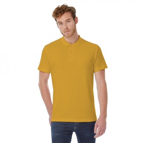 B&C ID.001 Unisex Adults Short Sleeve Polo Shirt (3XL) (Heather Grey)