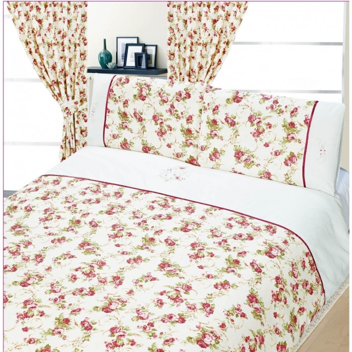 beatrice bettw sche set mit blumenmuster ebay. Black Bedroom Furniture Sets. Home Design Ideas