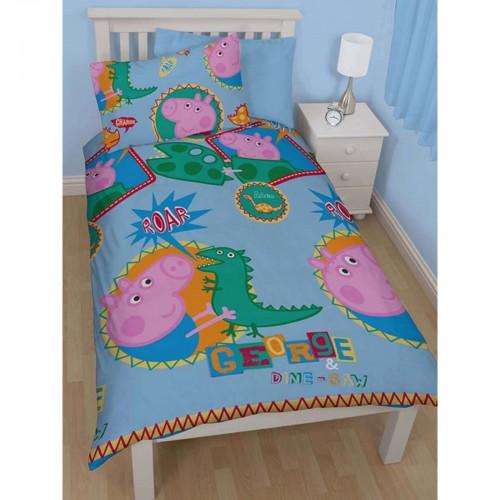 peppa wutz kinder wende bettw sche george roar ebay. Black Bedroom Furniture Sets. Home Design Ideas