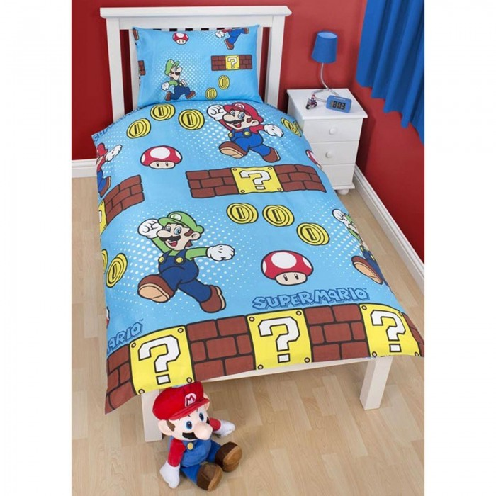 super mario bettw sche my blog. Black Bedroom Furniture Sets. Home Design Ideas