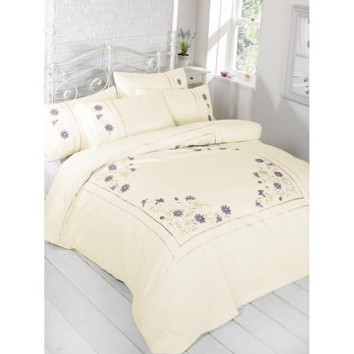 parure de lit adelle motif floral brod ebay. Black Bedroom Furniture Sets. Home Design Ideas
