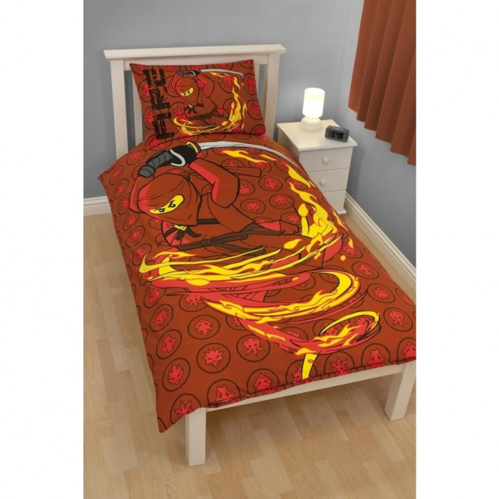 lego ninjago kinder bettw sche feuer ebay. Black Bedroom Furniture Sets. Home Design Ideas