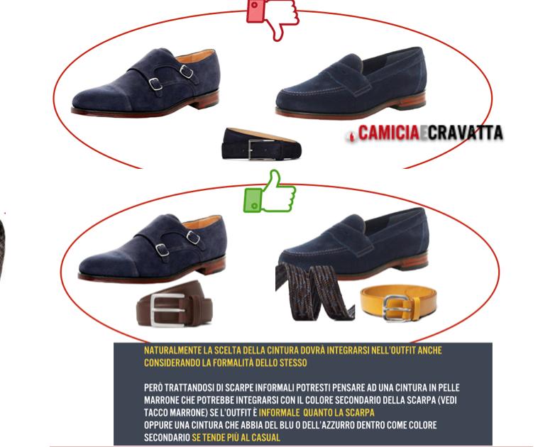abbinamento cintura scarpe informali