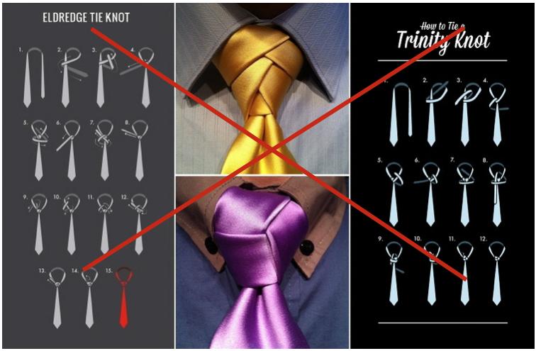 nodi di cravatta da evitare