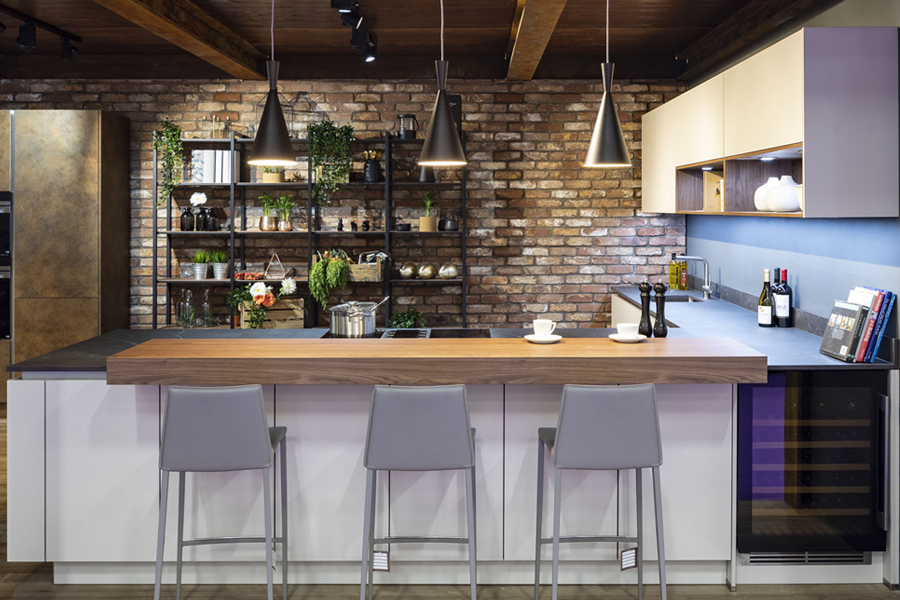 Built into the kitchen island
