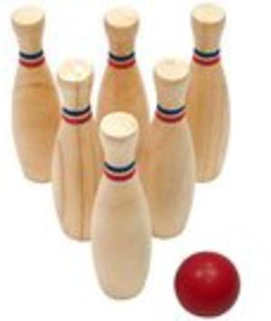 Beautiful Wooden Skittles Game Only £6, was £18 at Halfords