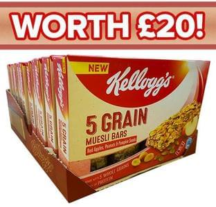 40 Kellogg's Muesli Bars for £2.99 (was £20)!