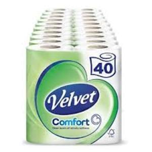 Velvet White Tissues 40 Rolls For Just £12.50!