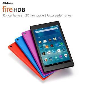 """All-New Fire HD 8 Tablet, 8"""" HD Display, Wi-Fi, 16 GB (Black)"""