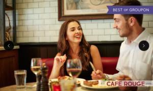 Steak, Chips and Wine for 2 people, £15 at Cafe Rouge (with Groupon)