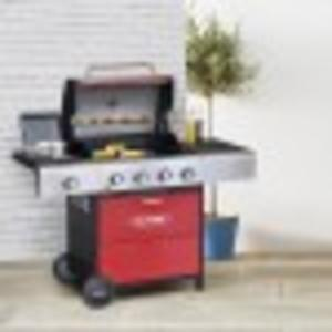 Outback Meteor 4-Burner Gas Barbecue – Red