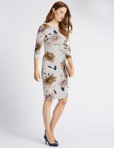 Classic Floral Print Bodycon Dress