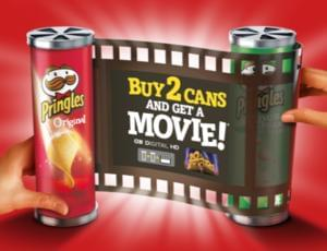 Free Google Play Movies with 2 cans of Pringles