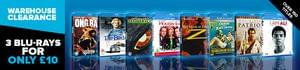 3 Blu-Ray Titles for £8.99 (using code)