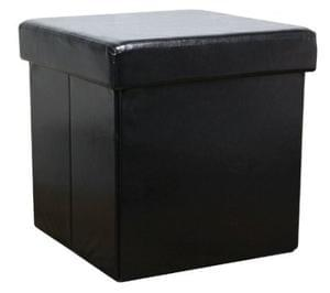 Faux Leather Ottoman - single
