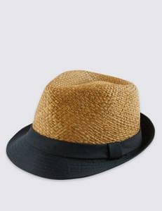 Mens Brim trilby hat
