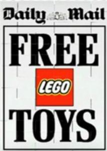 Free Lego toys with the Daily Mail and Mail on Sunday (8th & 9th October)