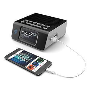 Abbey DAB Bedside Digital FM Radio Alarm Clock - 2 USB Charging Ports