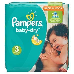 Pampers Nappies (198 Pack) for £5.65 at Amazon
