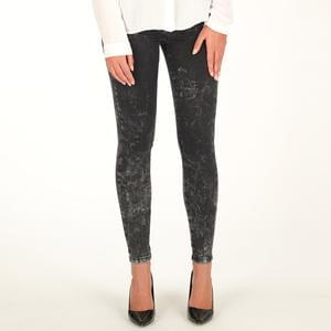 Only Womens Royal Acid Wash Skinny Jeans - Black Denim
