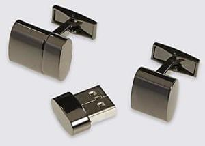 How cool are these 8GB USB Cufflinks - £6.40 at M&S