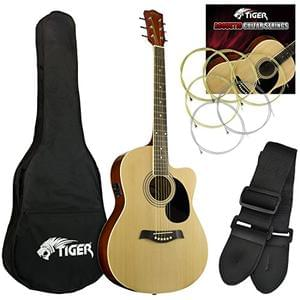 WOW! Tiger Electro Acoustic Guitar Pack - Natural