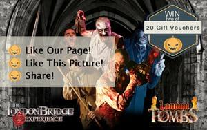 10 Pairs of London Bridge Experience & Tombs Gift Vouchers