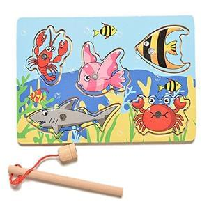 STOCKING FILLER ALERT! Wooden fishing game £2 inc P&P