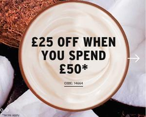£25 off Orders Over £50 at The Body Shop