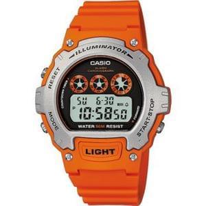 Casio Men's Orange Illuminator LCD Watch.