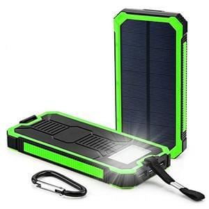 AISLA SOLAR POWER BANK 12000Mah(GREEN) + FREE USB LED LIGHT.