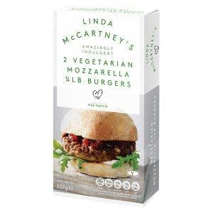 Linda McCartney Mozzarella Vegetarian Burgers £1.25