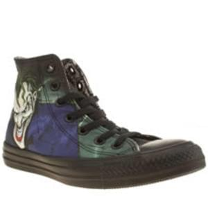 womens converse black & green all star joker hi trainers