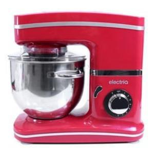 ElectriQ 5.2 Litre Kitchen Stand Mixer 1500w Red with Attachments
